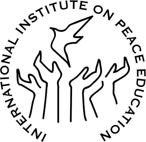 International Institute on Peace Education logo: graphic of hands releasing a dove