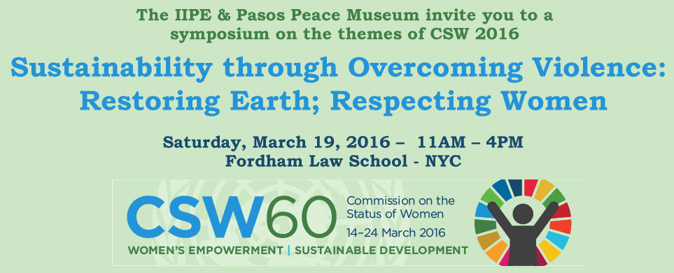 Symposium: Sustainability through Overcoming Violence